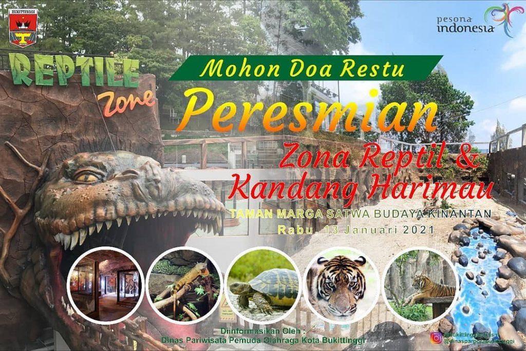 Taman Marga Satwa dan Budaya Kinantan Bukittinggi Resmikan Zona Reptil dan Zona Karnivora