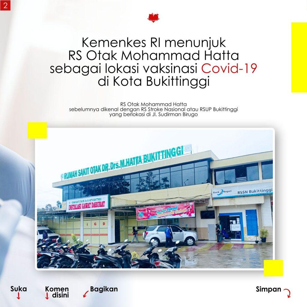 Lokasi Vaksinasi Covid 19 Gratis di Kota Bukittinggi