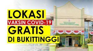 Jadwal Vaksinasi Covid 19 Gratis di Puskesmas Bukittinggi